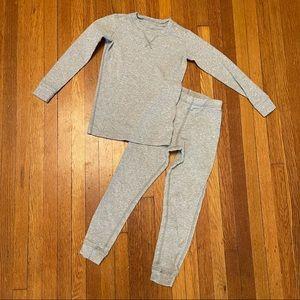 Primary organic cotton gray pajama set size 4-5